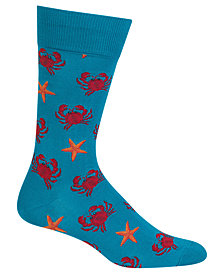 Hot Sox Men's Crab & Starfish Socks