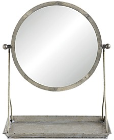 Mirror on Stand with Tray