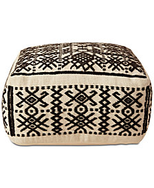 "22"" Square Hand-Woven Decorative Pillow"