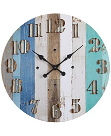 "30"" Round Wood Wall Clock"