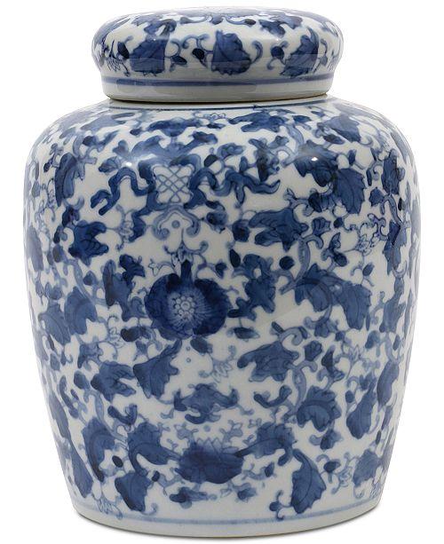 3r Studio Large Round Decorative Ceramic Ginger Jar With Lid Bowls