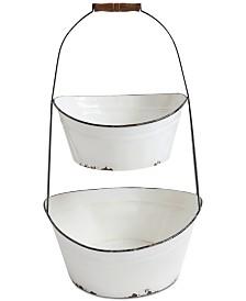 Metal 2-Tier Bucket