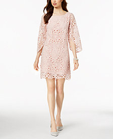 Nanette by Nanette Lepore Bell-Sleeve Lace Dress