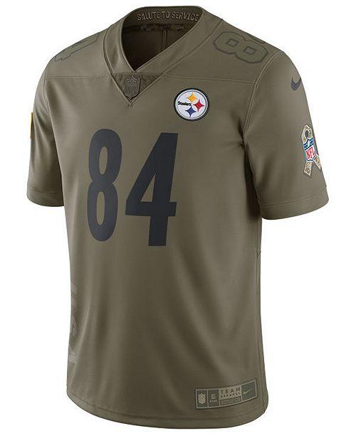 buy popular 5dcfc c123e Nike Men's Antonio Brown Pittsburgh Steelers Salute To ...