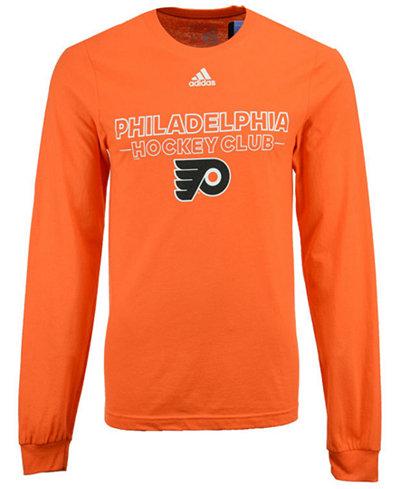 adidas Men's Philadelphia Flyers Frontline Long Sleeve T-Shirt