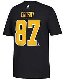 adidas Men's Sidney Crosby Pittsburgh Penguins Silver Player T-Shirt