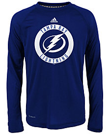adidas Tampa Bay Lightning Practice Graphic Long Sleeve T-Shirt, Big Boys (8-20)