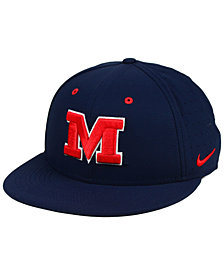 Nike Ole Miss Rebels Aerobill True Fitted Baseball Cap