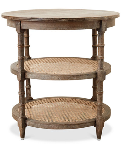 Table with Cane Shelves