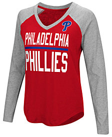 G-III Sports Women's Philadelphia Phillies Power Hitter Raglan T-Shirt