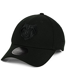 New Era Memphis Grizzlies Blackout 39THIRTY Cap