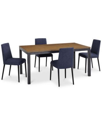 Gatlin Dining Furniture, 5-Pc. Set (Dining Table & 4 Blue Dining Chairs), Created for Macy's