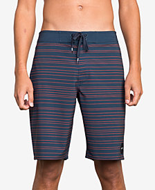 RVCA Men's Saunders Stripe Board Shorts