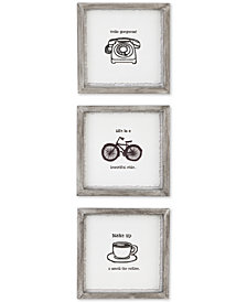 Intelligent Design Morning News 3-Pc. Framed Gel-Coated Wall Art Set