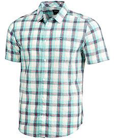 RVCA Men's Deep Plaid Shirt