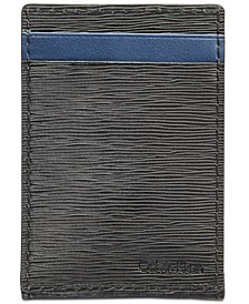 Men's Textured Leather Card Case