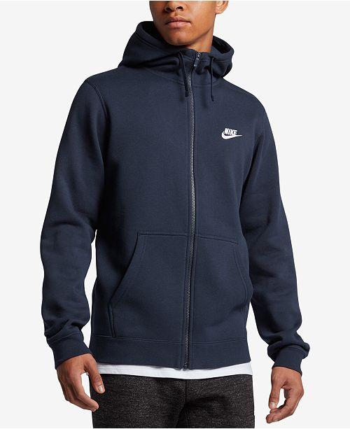 Nike Men's Fleece Zip Hoodie & Reviews Hoodies