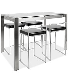 Fuji 5-Pc. Dining Set, Quick Ship