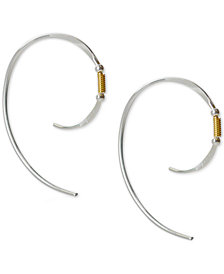 Jody Coyote Spiral Threader Earrings in Sterling Silver & 12k Gold-Filled