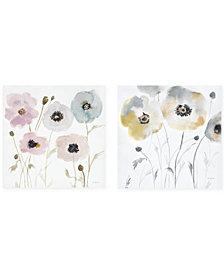 Madison Park Pastel Garden 2-Pc. Hand-Embellished Canvas Print Set