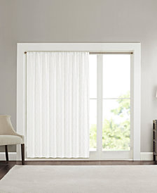 "Madison Park Irina Extra Wide 100"" x 84"" Embroidered Diamond Sheer Window Panel"