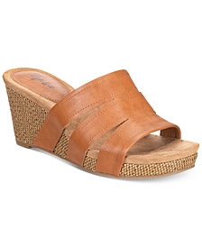 Style & Co Women's Juliaa Slip-On Platform Wedge Sandals, Created for Macy's