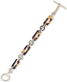 Lauren Ralph Lauren Gold-Tone Acetate Link Toggle Bracelet