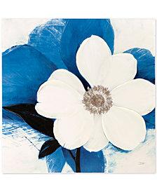 Madison Park Midday Bloom Blue Hand-Embellished Canvas Print