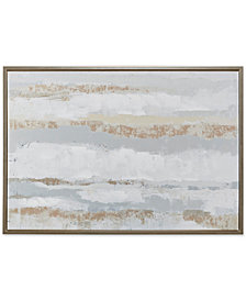 Madison Park Strato Hand Embellishment Framed Canvas Print with Gold-Tone Foil