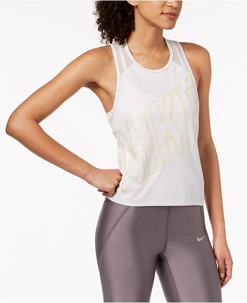 5a2ae1c0d26e17 Nike Dry Miler Cropped Racerback Running Tank Top   Reviews ...