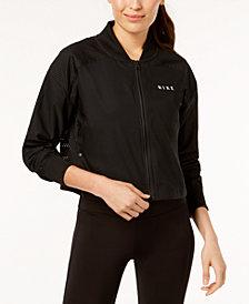 Nike Sportswear Mesh-Trimmed Cropped Bomber Jacket