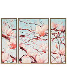 Madison Park Signature Outside My Window 3-Pc. Framed Hand-Embellished Canvas Print Set