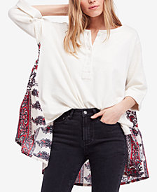 Free People Cool Baby Printed Contrast Sweatshirt