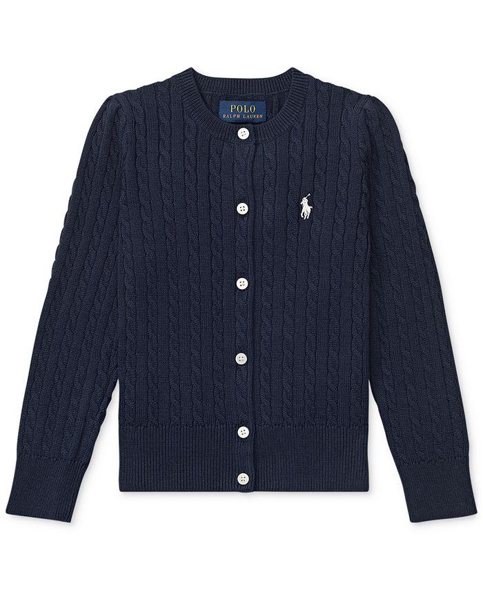 Polo Ralph Lauren - Little Girls Cable-Knit Cotton Cardigan