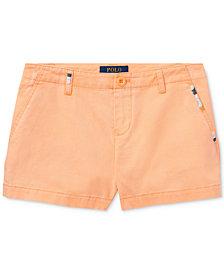 Polo Ralph Lauren Cotton Chino Shorts, Big Girls