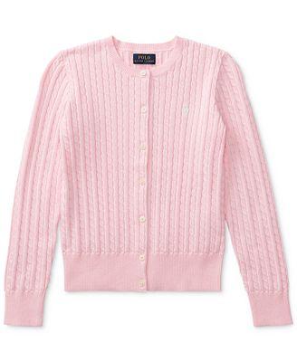 Polo Ralph Lauren Ralph Lauren Big Girls Cable Cardigan Shirts