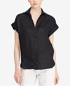 Lauren Ralph Lauren Dolman-Sleeve Linen Shirt
