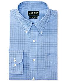 Lauren Ralph Lauren Blue Glen Plaid Dress Shirt