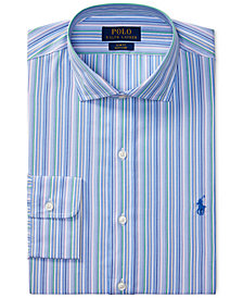 Polo Ralph Lauren Men's Classic/Regular Fit Easy-Care Striped Dress Shirt
