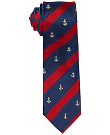 Ralph Lauren Men's Anchor Stripe Silk Tie