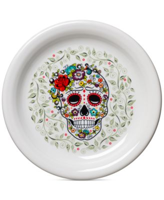 Skull and Vine Sugar Appetizer Plate
