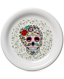 Fiesta Skull and Vine Sugar Appetizer Plate
