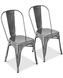 Oregon Silver Dining Chair (Set of 2), Quick Ship