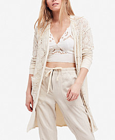 Free People Runaway Crochet Duster Cardigan