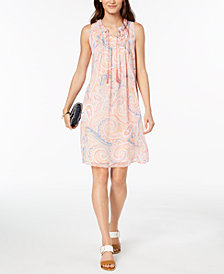 Tommy Hilfiger Paisley-Print Dress, Created for Macy's
