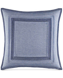 "Nautica Waterbury 18"" Square Pieced Decorative Pillow"