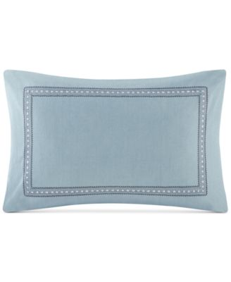 "Design Larissa Embroidered Cotton 13"" X 20"" Decorative Pillow"