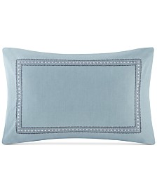 "Echo Design Larissa Embroidered Cotton 13"" X 20"" Decorative Pillow"