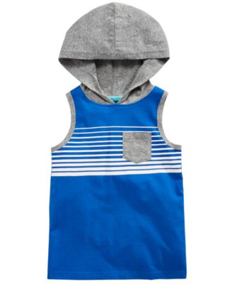Striped Hooded Tank Top, Toddler Boys, Created for Macy's