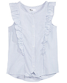 Epic Threads Big Girls Striped Tie-Front Shirt, Created for Macy's